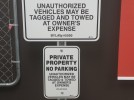 """The standard size for City of Edmonton parking signs (pictured at top) is 24"""" x 24"""""""